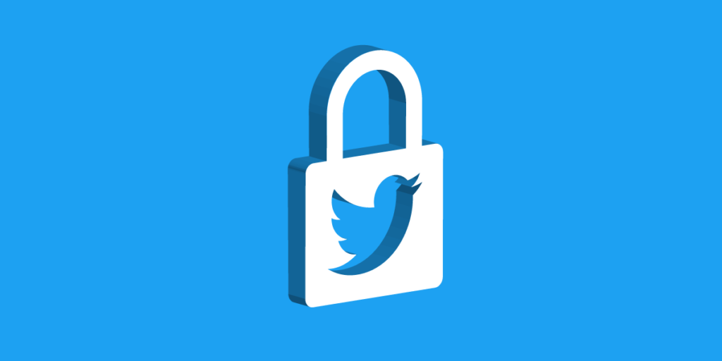 what does the lock on twitter mean